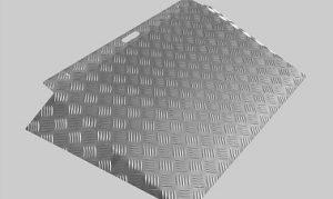 Eenvoudige oprit van aluminium